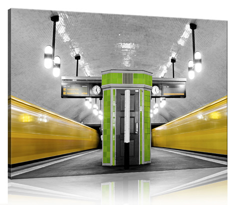 1 U Bahn Berlin Leinwandfoto