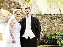 Bildermosaik aus Hochzeitsfotos