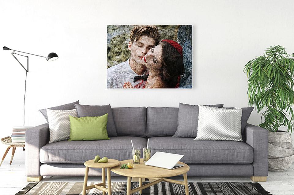 Foto Mosaik auf Leinwand