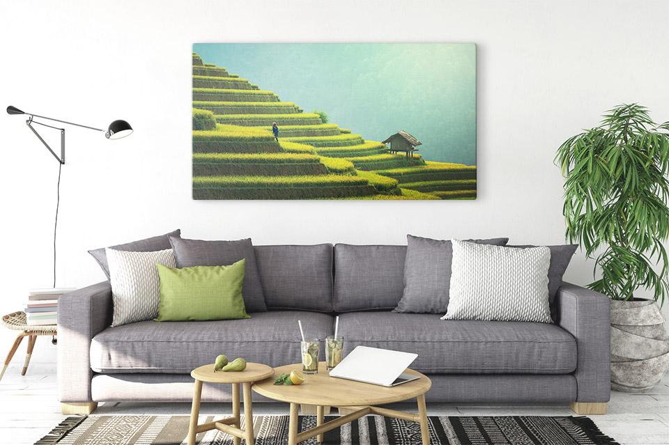 panorama leinwand drucken wohnung